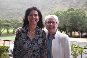 Coffee Break committee chair Cindy Newman-Jacobs, left; and Dr. Wendy Mogel.