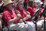Part of the clarinet section in the community band.