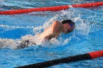Erik Juliusson swimming the 500 free at last year's CIF finals. Photo by Bob Campbell