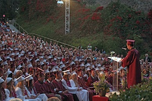 Senior Tyler Fisher addresses the 2013 Laguna Beach High School graduating class. commencement.