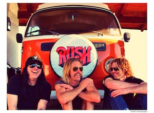 Taylor Hawkins, center, with Chevy Metal bandmates.