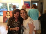 La Jolla collector Jean Kearns with gallerist Carla Tesak.