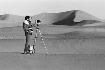 Roger Bennett in action in Death Valley.