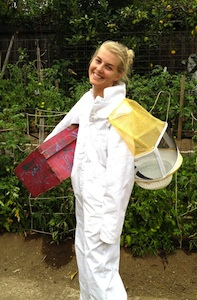 Local beekeeper Charlotte Bell