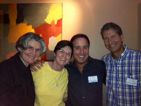 From left, Sandra Hartness, Karen Ellis, Ed Todeschini and John Ferrante celebrated the gay-rights court ruling at a local restaurant.