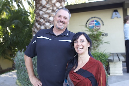 Art teacher Scott Wittkop and Somer Selway.