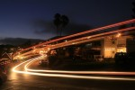 Photographer Frankie Anthony used a long exposure to capture Laguna's summer trolley on Cliff Drive several years ago. Photo by Frankie Anthony
