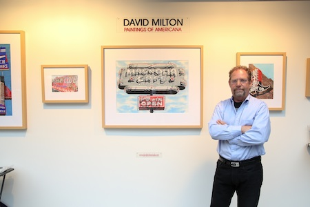 Painter David Milton is trying his hand at film, having written a screenplay about his war correspondent father. Photo by Jody Tiongco