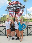Girls Volleyball Players Scored at the National Tournament