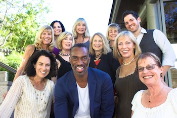 Desmond Richardson with Laguna Dance's board members.