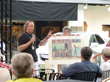 Artist Scott Moore presenting his work during one of last year's Art Talks discussions.