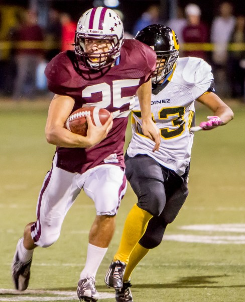 Senior running back Nathan Lancaster returns to the field, having finished second last season in rushing yards. Photo by Doug Landrum.