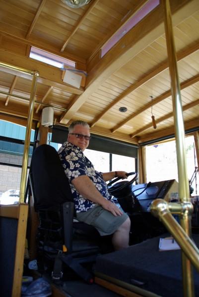 Chuck Saloga, Laguna Beach Trolley driver.