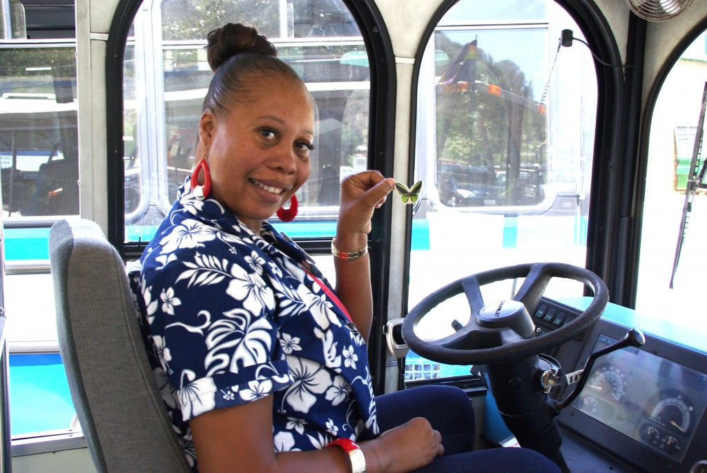 Laguna Beach Trolley driver Remona Carpenter.