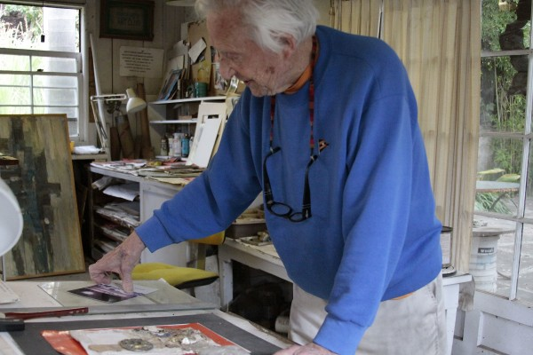 Multi-media artist Paul Darrow still makes art daily in his home studio.