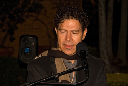 Sam Curo performs at Cottage Gallery on Saturday.