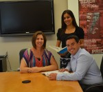 LBHS counselors, from left, Nichole Rosa, Angela Pilon and newcomer Johnathan Rastello.