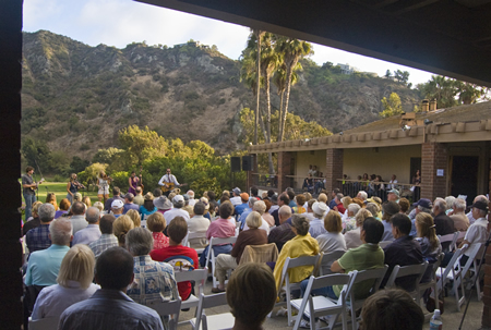 Aliso Canyon provides a dramatic backdrop for a concert set for next weekend.
