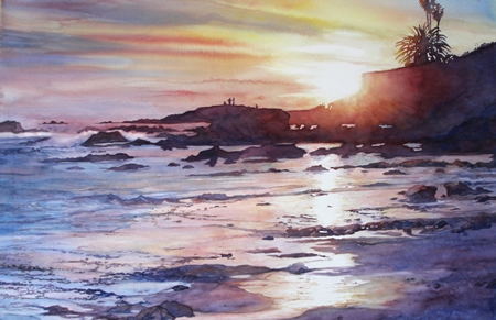 "NC Swan's ""Low Tide Laguna"" is included in the Artist Eye September exhibit."