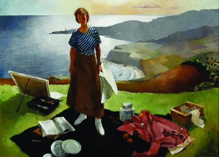 "Lee Blair's ""Mary by the Sea,"" part of a new show about California regionalists opening at the college."