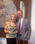 The museum's volunteer of the year Michele Monda with Executive Director Malcolm Warner.