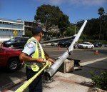 Coast Highway Blocked by Downed Pole
