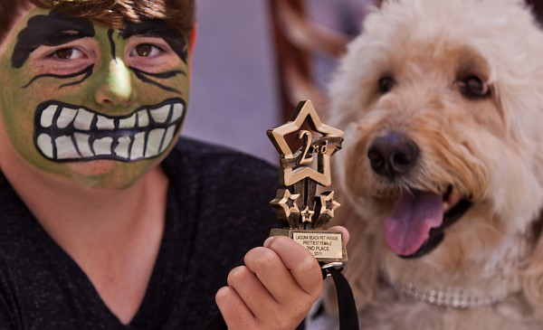 A second place winner in a previous Pet Parade & Chili Cook-Off, taking place Sunday, Sept. 29, 11 a.m. at Tivoli Too, 777 Laguna Canyon Rd. 949-230-3353. Photo by Mitch Ridder.