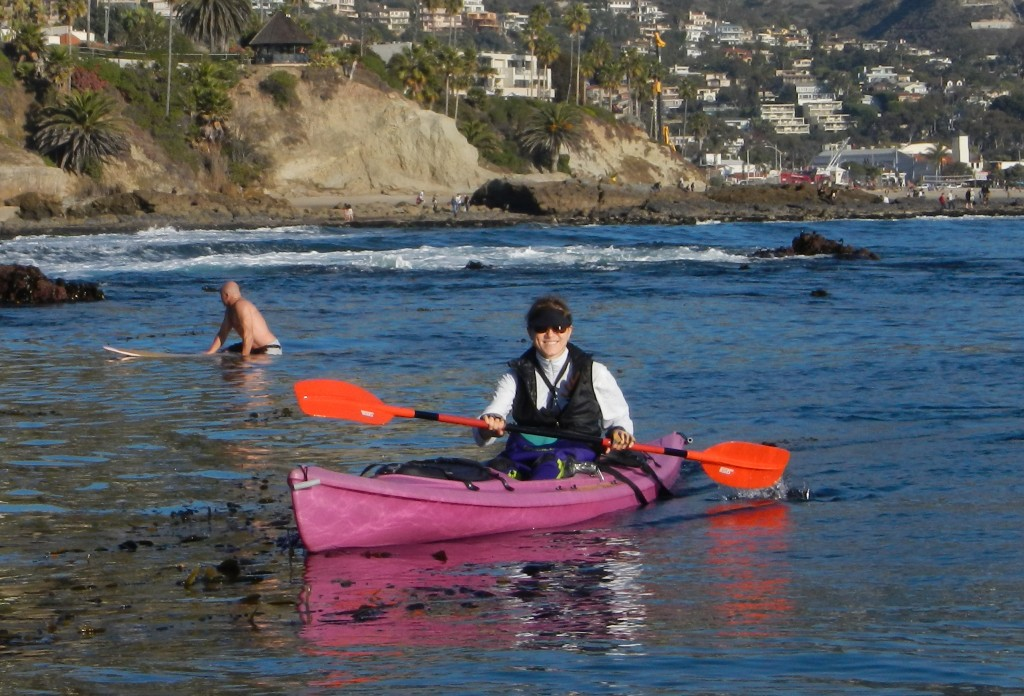 Kayaking off north Laguna's coastline.