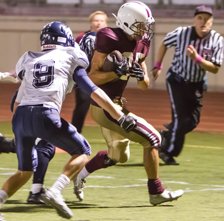 Nathan Lancaster outruns the Northwood first team defense to score Laguna's final touchdown.