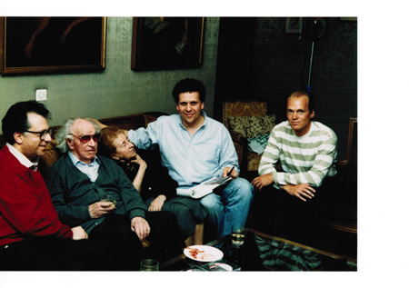 From left, film narrator Pepe Romero, Rodrigo and his  wife Victoria Kamhi, producer Larry Weinstein and and Dr. Randy Pile.