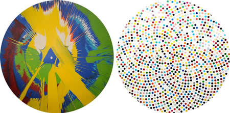 3 hirst Spin painting and dots