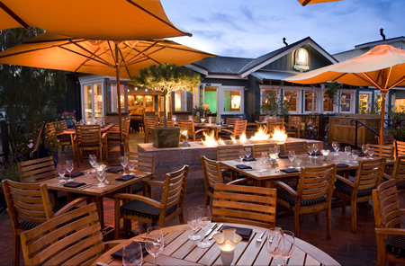 The restaurant's inviting patio.