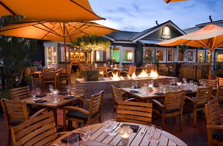 The restaurant's inviting patio.