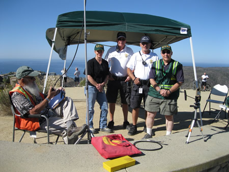 From left, CERT team members John Kountz and Sarah Jane McKinney, beach patrol officers Randy King and Jim Rosen, and CERT team member Matt Lawson. Photo by John Falk