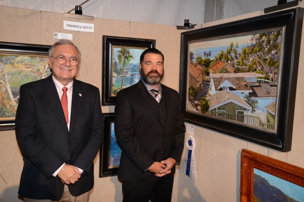 5 benefits LIFETIME ACHIEVEMENT AWARD WINNER JEAN STERN, SCOTT W. PRIOR ARTIST WITH HIS BEST IN SHOW PAINTING