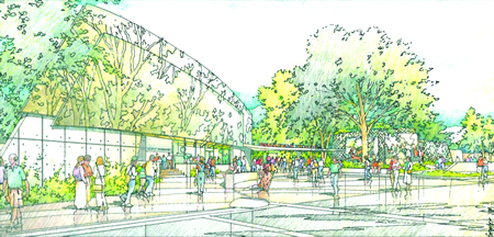 A rendering of the envisioned facelift for the Festival of Arts.
