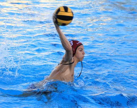 Junior Cade Baldridge fires in a goal during Laguna's 6-3 second round, CIF win against Villa Park. Photos by Robert Campbell
