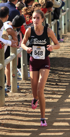 Freshman Kirsten Landseidel led the Laguna girls to a fourth place finish and a spot in the state finals meet in Fresno.