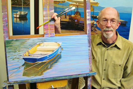 Artist Tom Swimm is donating a work to the cause.