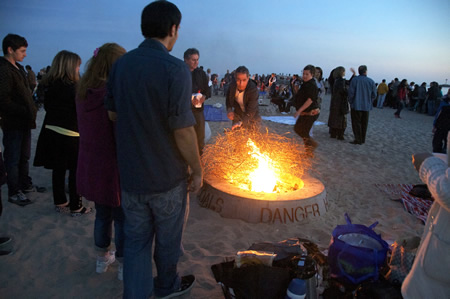Bring your own wood may become a thing of the past at beach fire pits.