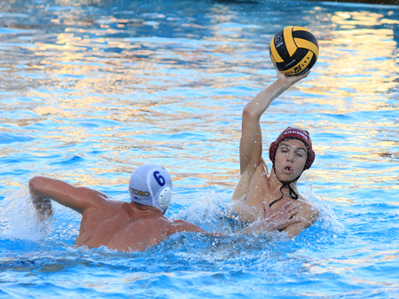 Cade Baldridge looks for an opening during Laguna's 9-7 home win against El Toro Tuesday, Nov. 6. The Breakers scored 6 goals in the second half to come from behind for the victory over the Division 1  Chargers.