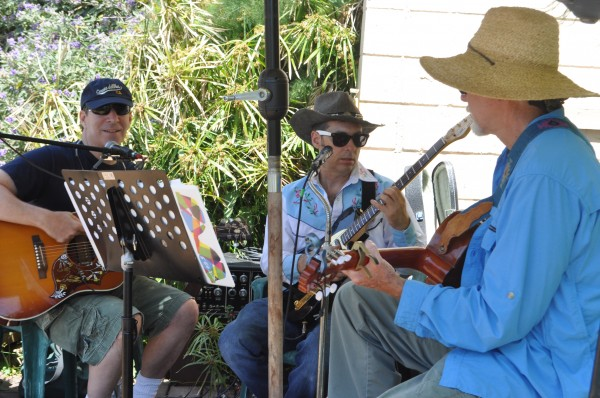 John Doyle, Tony Bisson and Tom Joliet, the Dogpatch Garden Band, at the South Laguna Community Garden Park.