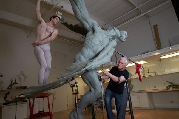 4.1 art seen RM Working on Doves, Heroic