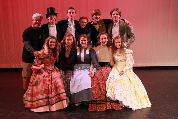 The cast of the Laguna Beach High School musical production of 'Little Women' at the Artists Theatre Photo by Roark Gourley