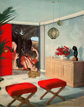 """Ravished,"" one of Shaden's works, on exhibit at Artman Gallery."