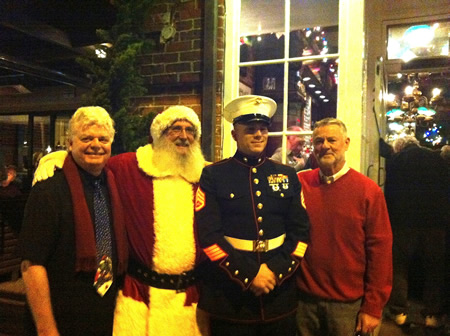 Santa, who looks a lot like Chuck Harrell, made an appearance at last year's shindig.