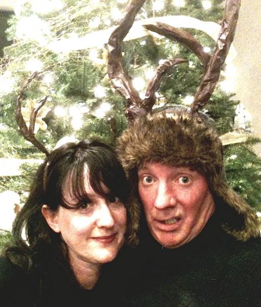 Obvious props adorn Ava Burton and Mark Miller.