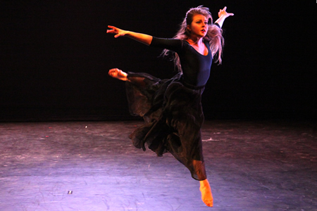 "Danielle Glick dances in Madeline Shirley's ""Second Chance,"" exploring recovery from addiction."
