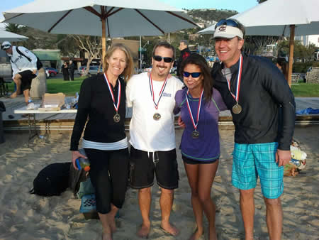 2012's Polar Bear social division champs, from left, Sepideh Long, Mark Wyan, Jill McSweeney and Nick Kahlie.