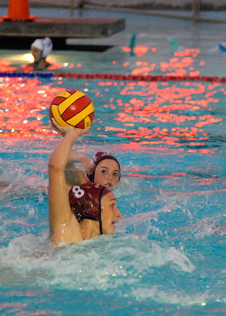 No. 8 Cora Borkovec, the USC-bound transfer, scored six goals, two assists and two steals against Dana Hills on Tuesday, Dec. 3. Photo courtesy of Todd Miller
